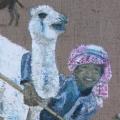 Petit chamelier du désert de Palmyre