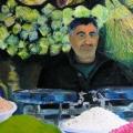 Le souk des épices de Damas: l'épicier