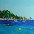 Le Cap Nègre vu de la plage de Cavalière
